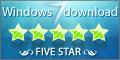 5 Stars from windows7downloads.com